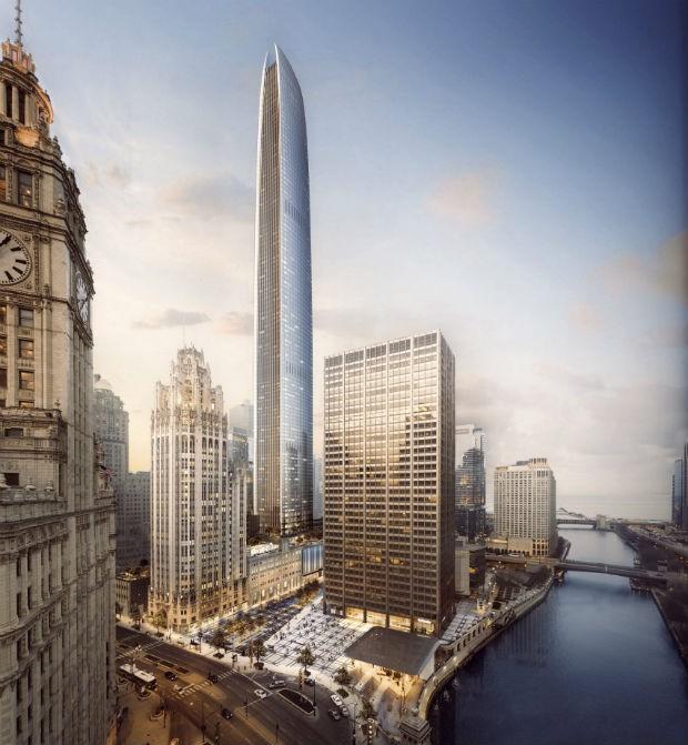 Prédio será o segundo mais alto de Chicago com 433 metros de altura (Foto: Divulgação)