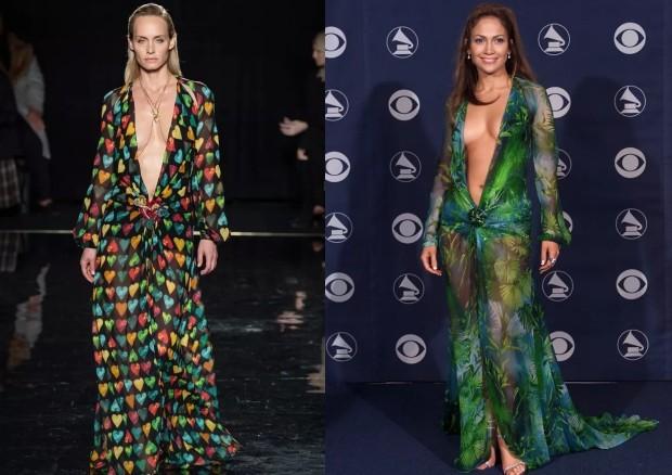 Vestido icônico de Jennifer Lopez volta às passarelas da Versace (Foto: Getty Images)