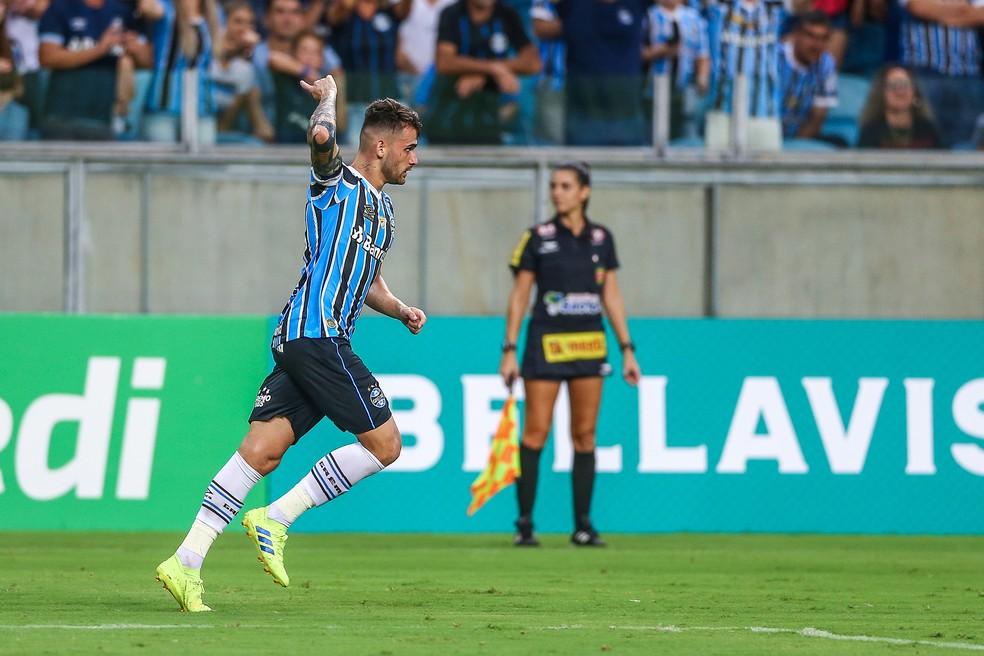 Felipe Vizeu, atacante do Grêmio  — Foto: Lucas Uebel / Grêmio