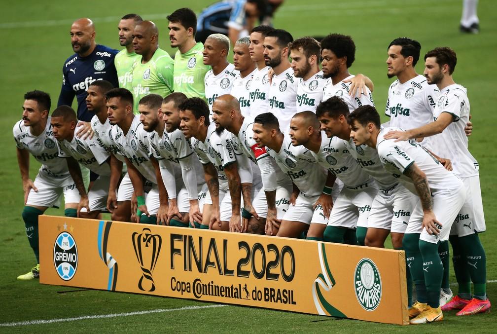 Time do Palmeiras na final da Copa do Brasil — Foto: Reuters