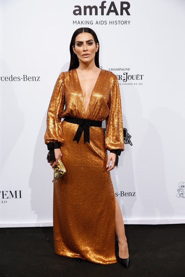 SAO PAULO, BRAZIL - APRIL 13: Cleo Pires attends the 2018 amfAR Gala Sao Paulo at the home of Dinho Diniz on April 13, 2018 in Sao Paulo, Brazil. (Photo by Alexandre Schneider/Getty Images for amfAR) (Foto: Getty Images for amfAR)