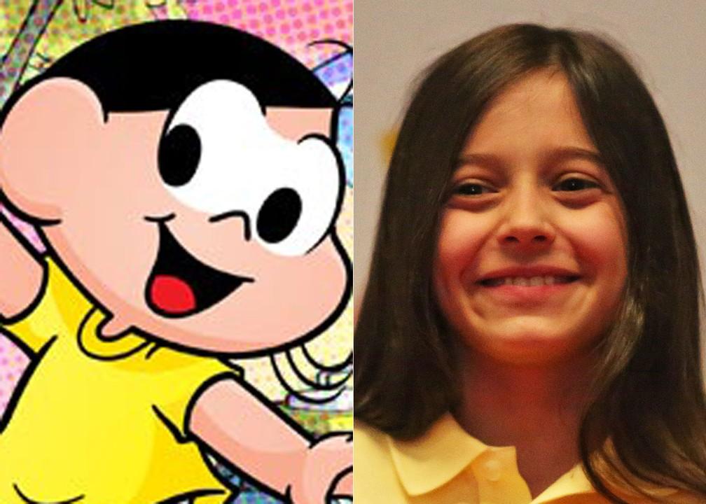 Laura Rauseo, de nove anos, foi a escolhida para interpretar Magali em 'Turma da Mônica – Laços' (Foto: Divulgação e Fabio Tito/G1)