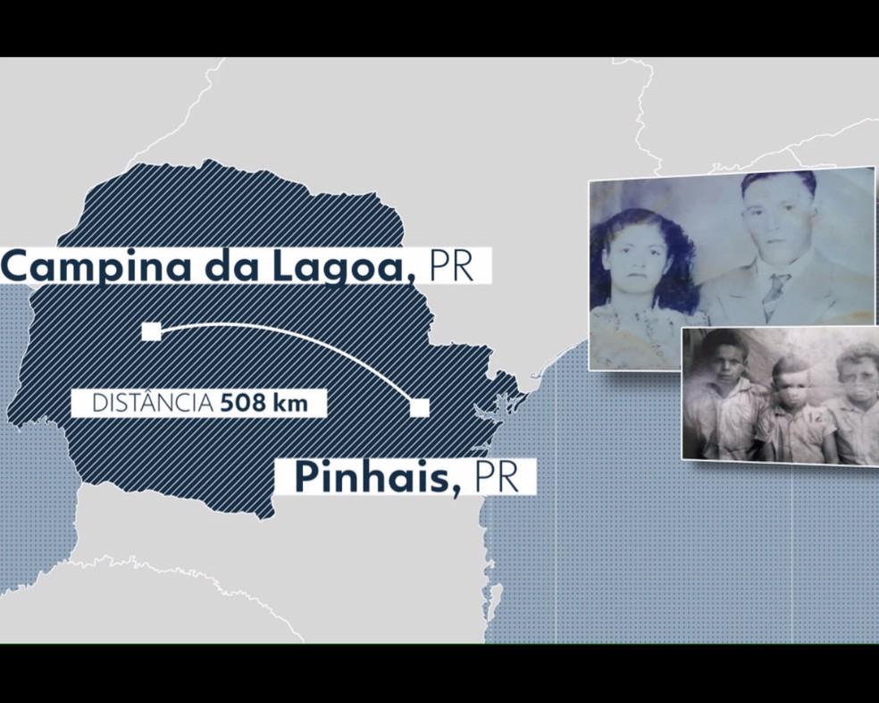 Maria vivia em Campina da Lagoa e foi para Pinhais para fazer um tratamento de saúde — Foto: Reprodução/RPC