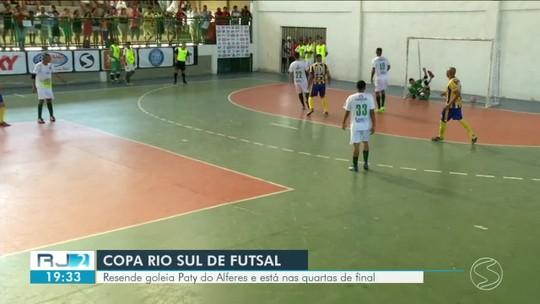 Resende goleia Paty do Alferes e está nas quartas de final da Copa Rio Sul de Futsal