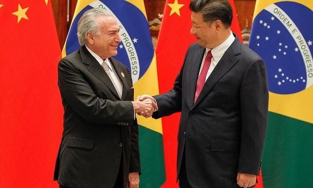 Temer durante encontro com o presidente da China, Xi Jinping, em setembro de 2016 (Foto: Beto Barata / PR)