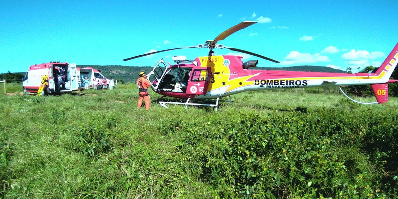 Passageiro de moto fica gravemente ferido em acidente na MG-401, em Verdelândia
