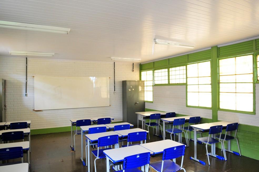 Sala de aula de uma escola pública do Distrito Federal (Foto: Dênio Simões/Agência Brasília)