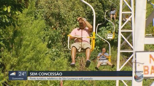 Sem concessão, teleférico de São Lourenço para de funcionar
