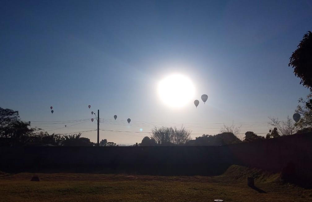 Campeonato de balonismo em Araçoiaba da Serra vai até domingo — Foto: Luisa Murakami/Arquivo pessoal