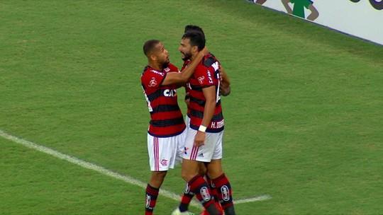 Os gols de Flamengo 2 x 0 América-MG pela 2ª rodada do Brasileirão 2018