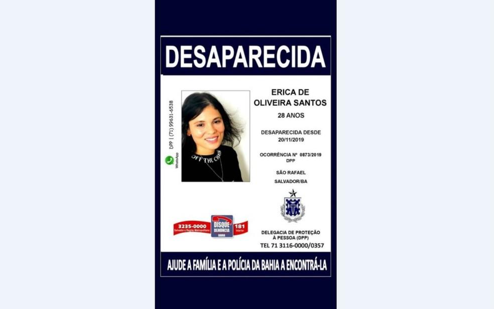 Família procura jovem de 28 anos que sumiu há 4 dias após surto em Salvador — Foto: Reprodução
