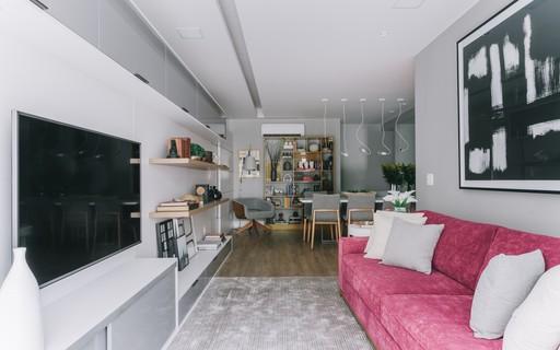 Reforma traz amplitude a apartamento sem muito quebra-quebra