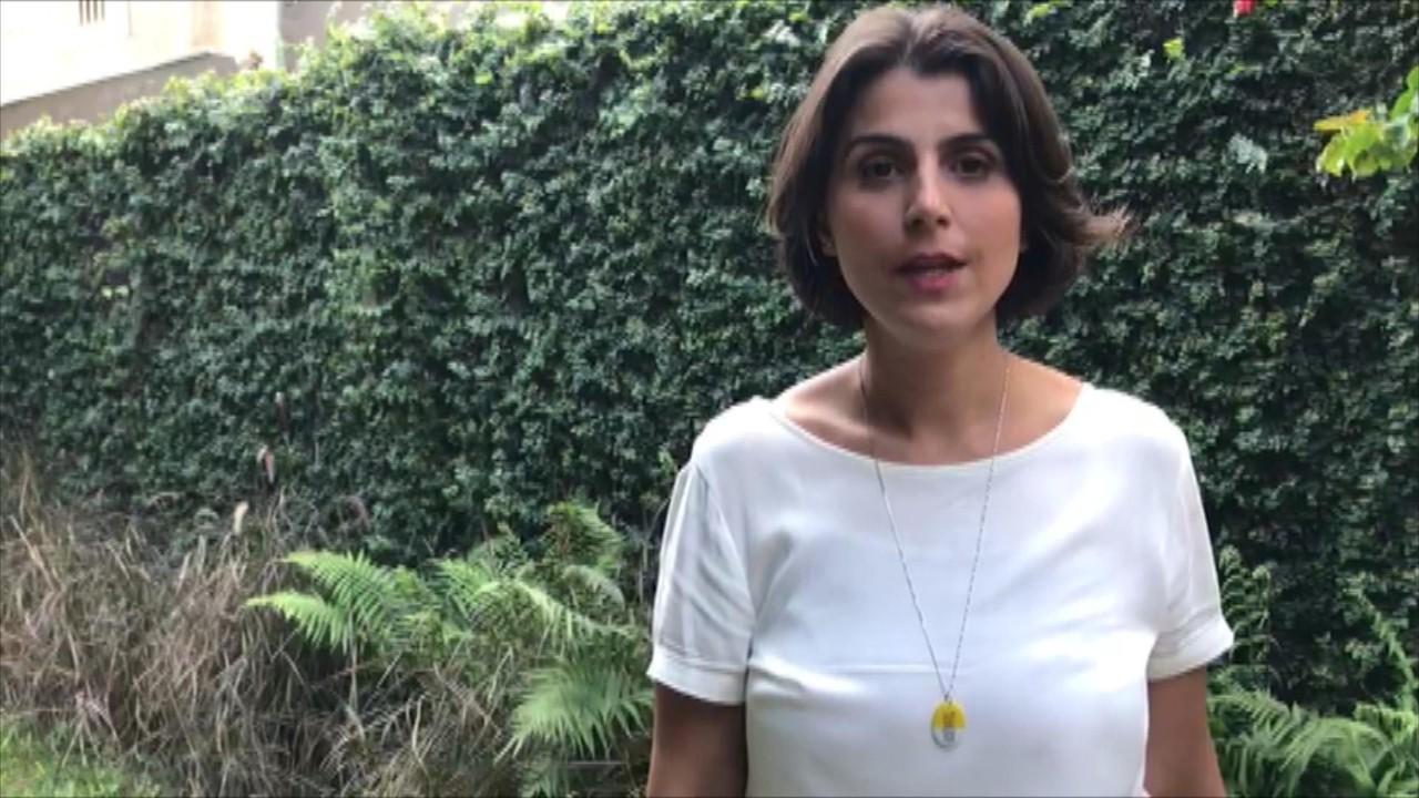 Manuela D´Ávila (PCdoB) responde a pergunta sobre mobilidade urbana em Porto Alegre