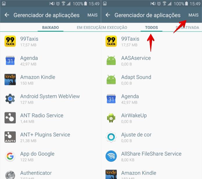 Acesse a lista com todos os apps instalados (Foto: Reprodução/Thássius Veloso)