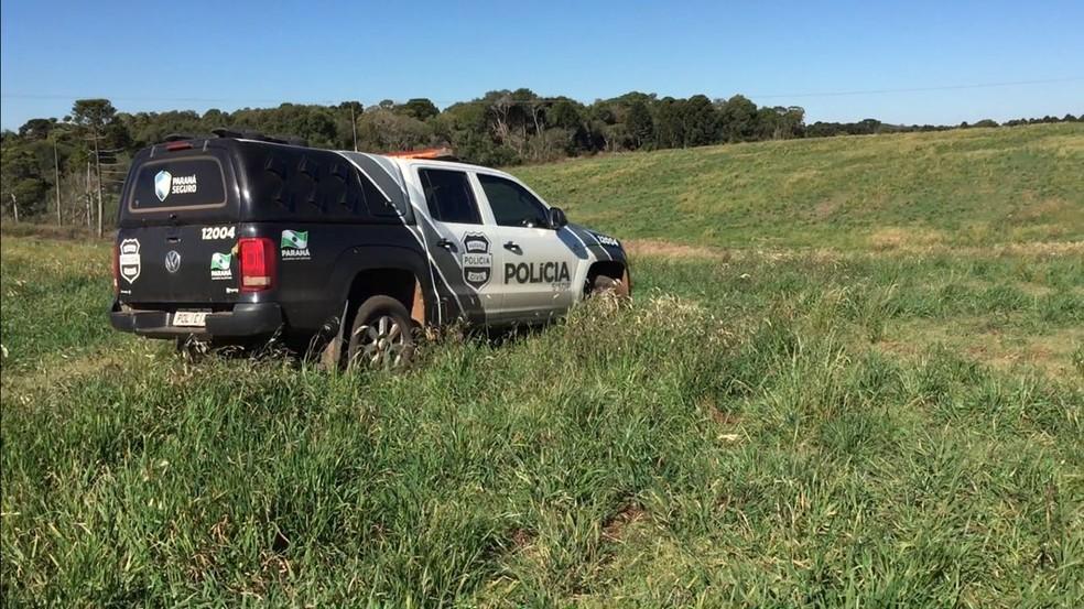 Suposto corpo da vítima foi encontrado após dois dias de buscas, em uma propriedade rural (Foto: Divulgação/Polícia Civil)