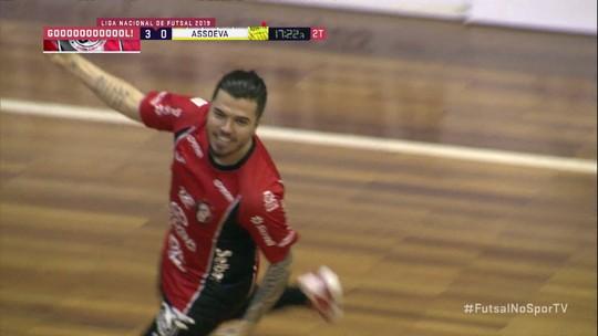 Os gols de Joinville 4 x 3 Assoeva pela Liga Nacional de futsal