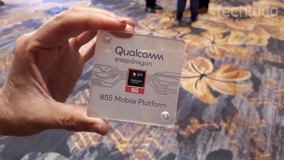 Snapdragon 855 é o novo processador da Qualcomm para Internet 5G — Foto: Aline Batista/TechTudo