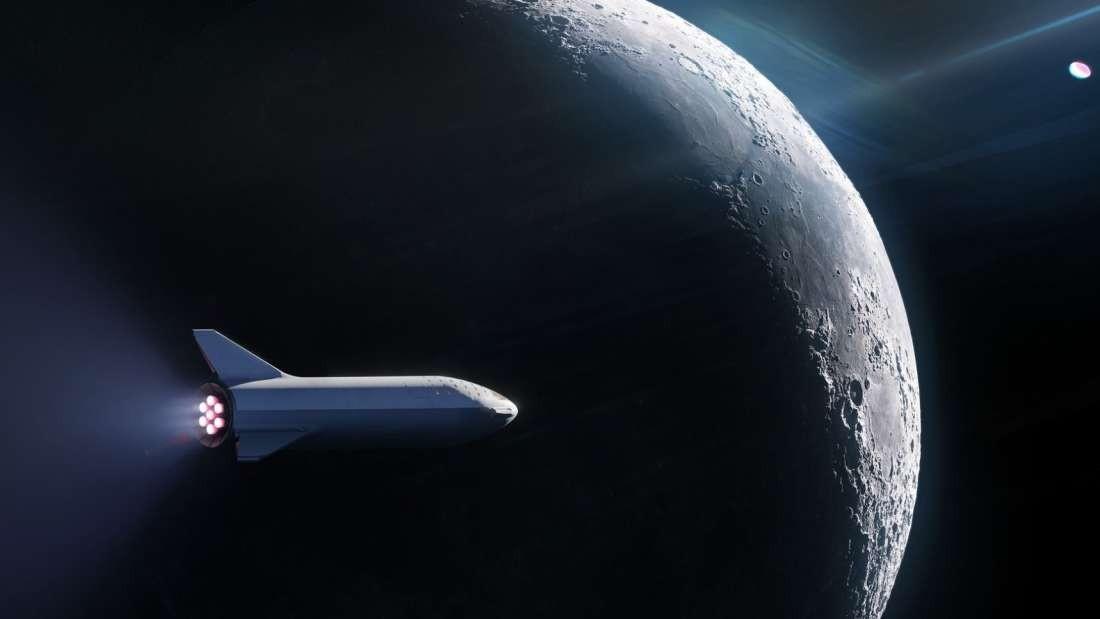 Modelo do veiculo da SpaceX que estará pronto até 2024 (Foto: Divulgação)