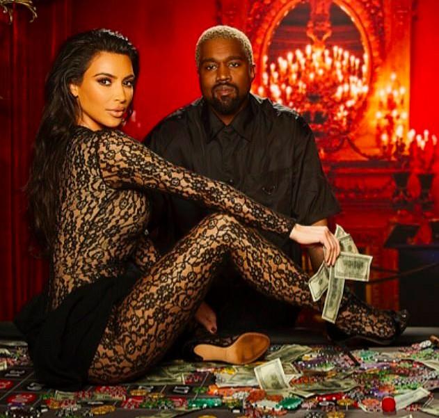 Kim Kardashian e Kanye West no aniversário de 40 anos de John Legend (Foto: Instagram)