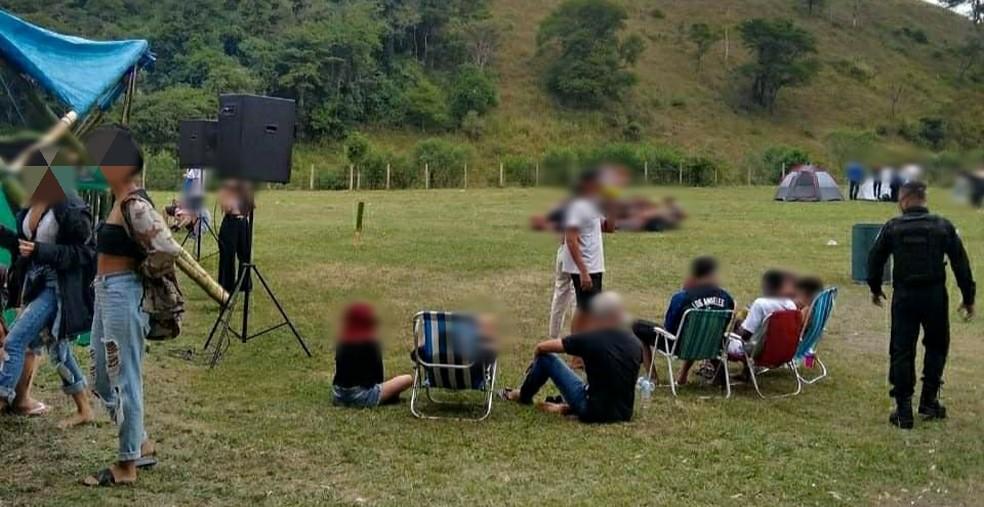 Evento foi encerrado e o responsável, autuado  — Foto: Divulgação/Prefeitura de Volta Redonda