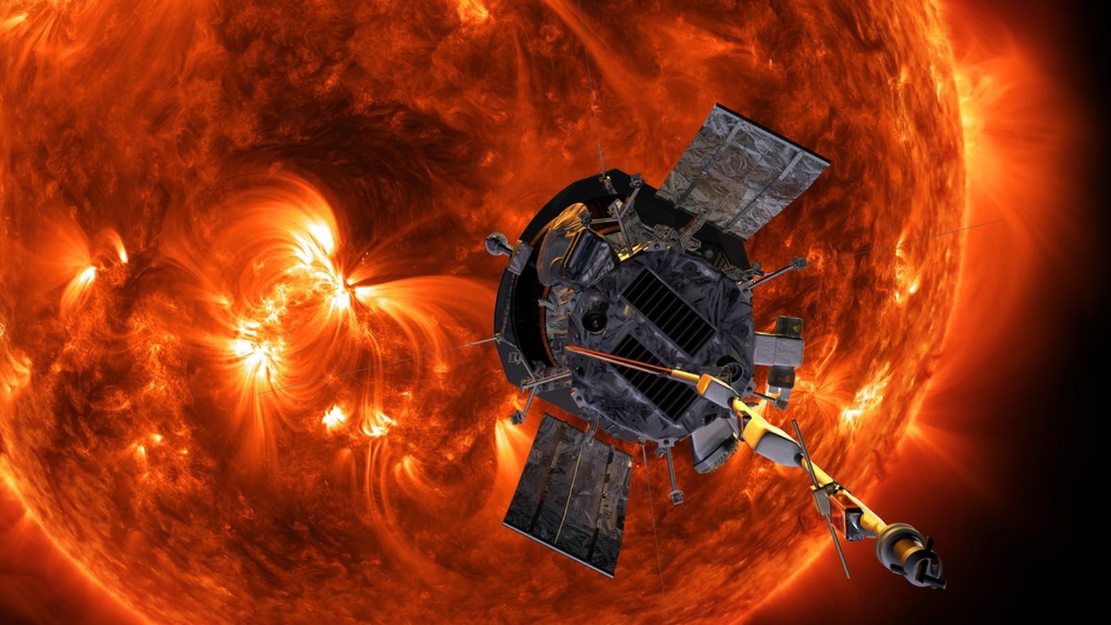 Ilustração representa a sonda que chegará próxima do Sol (Foto: Divulgação/NASA)