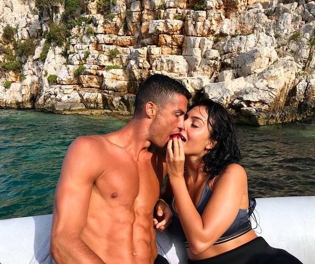 Cristiano Ronaldo e Georgina Rodriguez (Foto: Reprodução)
