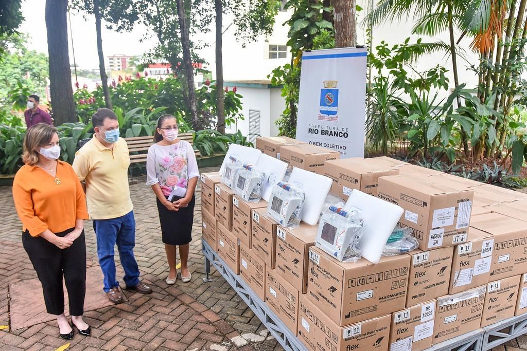 Com 182 internados com Covid-19, Acre recebe doação de respiradores para tratamento de pacientes