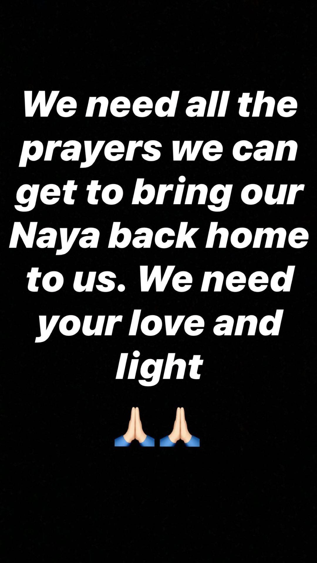 Heather Morris pede orações por Naya Rivera (Foto: Reprodução/Instagram)
