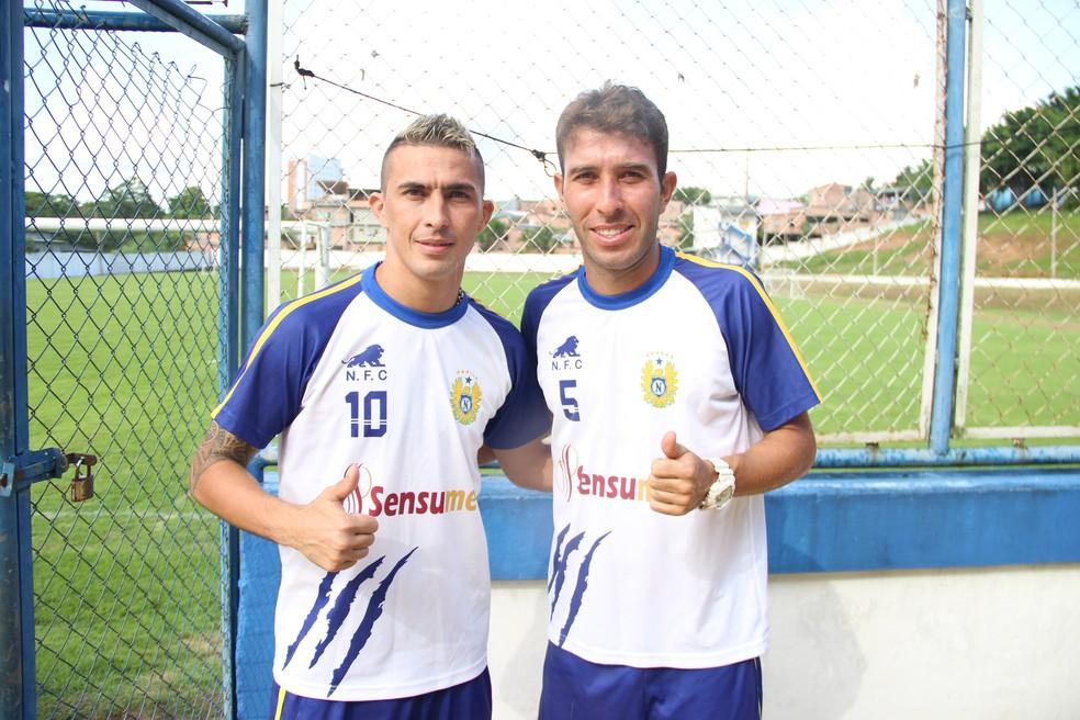 Crsitiano e Rodrigo Ítalo ajudaram o Nacional a conquistar uma classificação improvável em cima da Ponte Preta, em 2013 (Foto: Marcos Dantas)