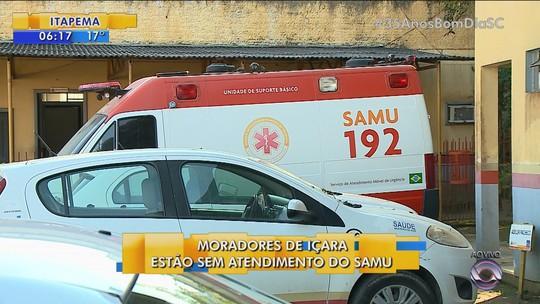 Ambulâncias do Samu quebram em Içara e Meleiro, e cidades ficam sem atendimento próprio