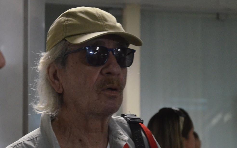 Geraldo Vandré voltou em 2015 à Paraíba, após 20 anos (Foto: Giovanna Ismael/Jornal da Paraíba/Arquivo)