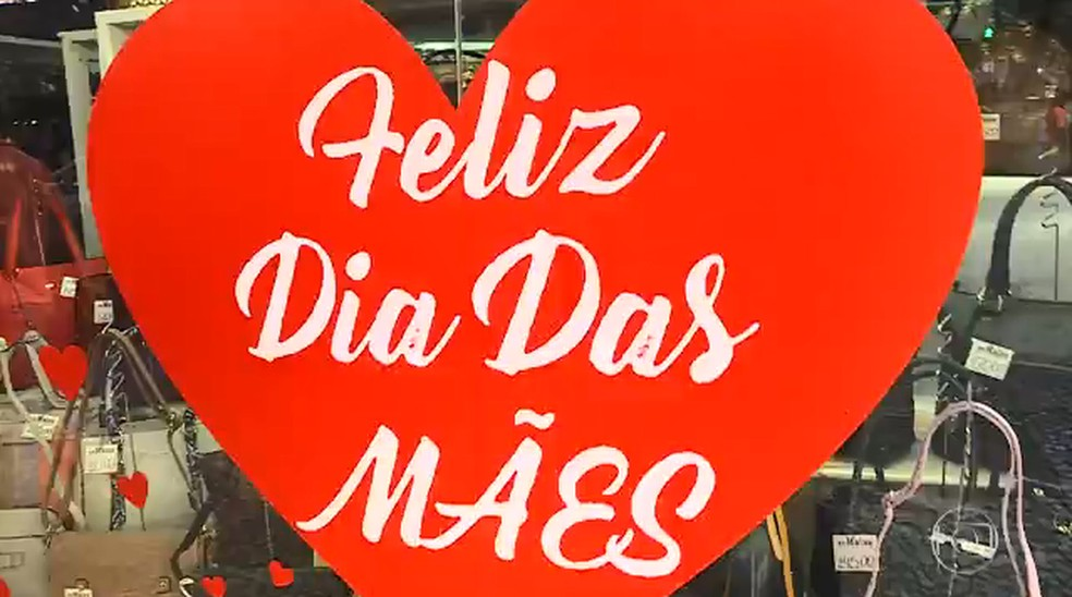 Dia das mães é a data mais esperada pelo comércio no primeiro semestre — Foto: Reprodução/TV Globo