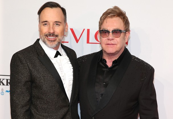 Elton John e DAvid (Foto: Getty Images)