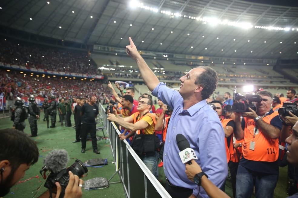 8162d0a5be449 Após marcar história do Fortaleza com título cearense, técnico Ceni ...