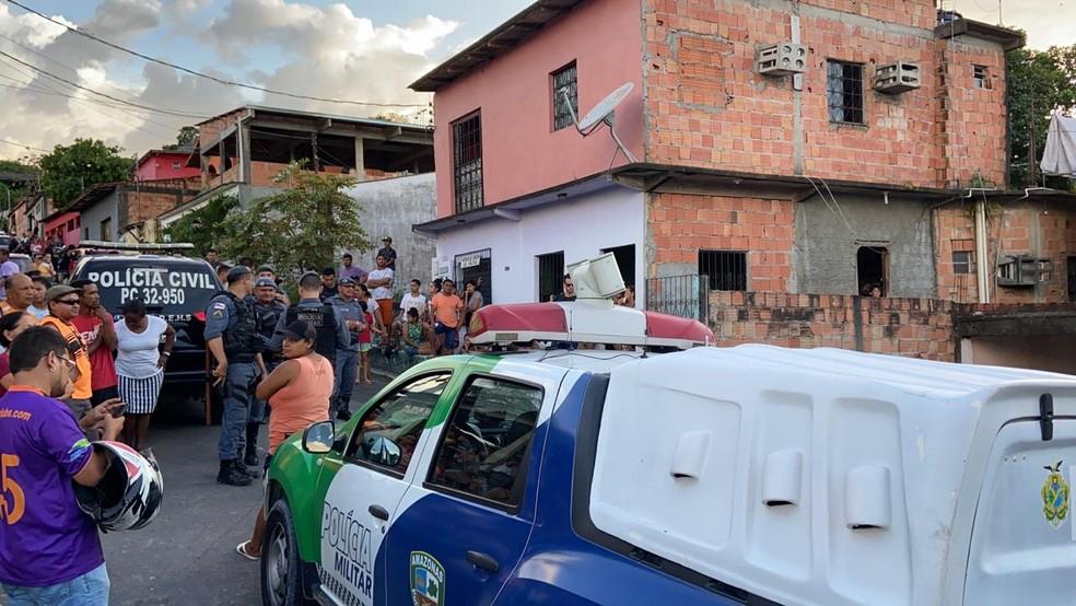 Crime ocorreu neste domingo (12), em Manaus — Foto: Patrick Marques/G1 AM