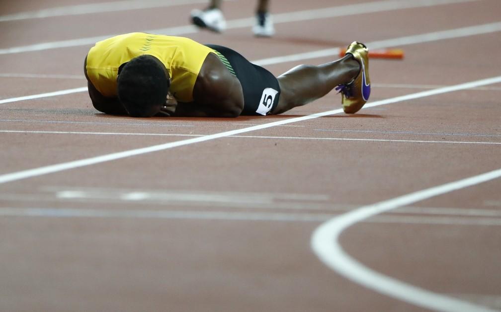 Usain Bolt Revezamento 4x100 Mundial de Londres (Foto: REUTERS/Lucy Nicholson)