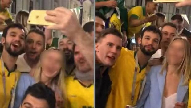 Brasileiros gravaram vídeo com russas pedindo que repetissem frases machistas (Foto: Reprodução)