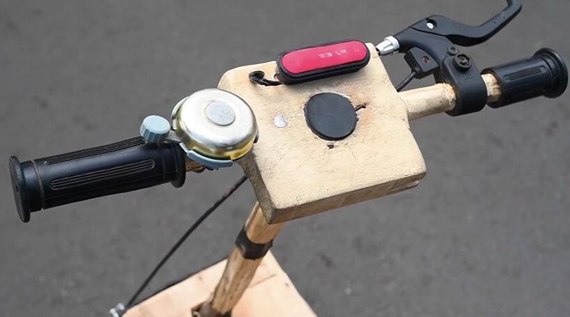 A motocicleta foi construída do zero, com peças cortadas à mão (Foto: Efo Selasi / YouTube / Reprodução)