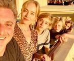 Angélica com Luciano Huck e os filhos Joaquim, Benício e Eva | Reprodução/Instagram