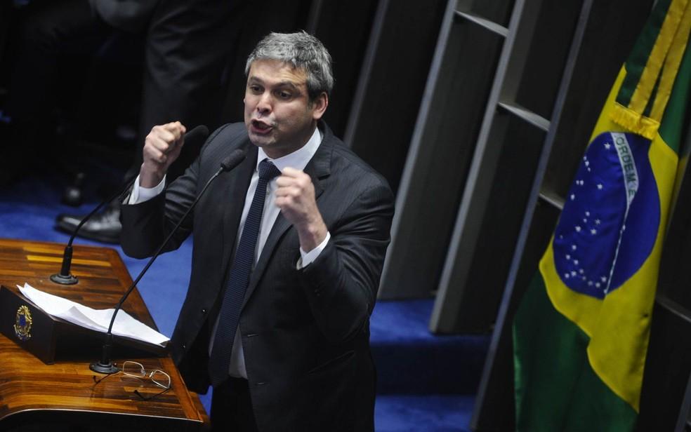 O senador Lindbergh Farias (PT-RJ) (Foto: Marcos Oliveira/Agência Senado)