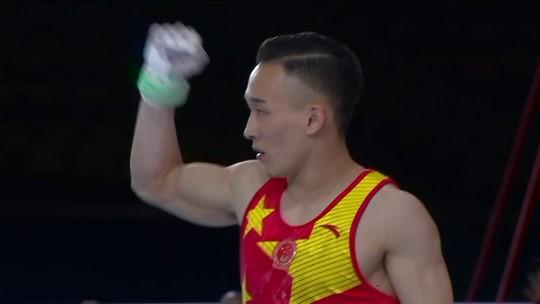 Chineses conquistam dobradinha no individual geral no Mundial de Ginástica