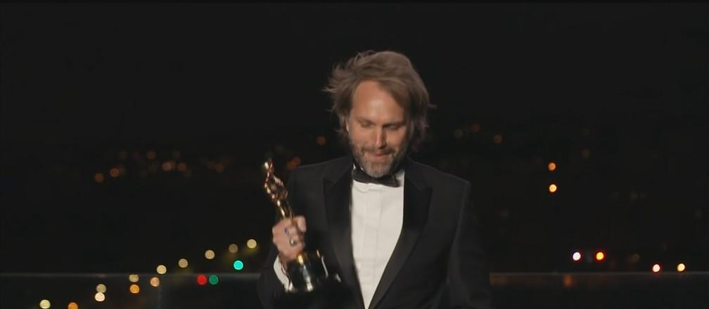 Roteirista de 'Meu Pai' no Oscar — Foto: Reprodução