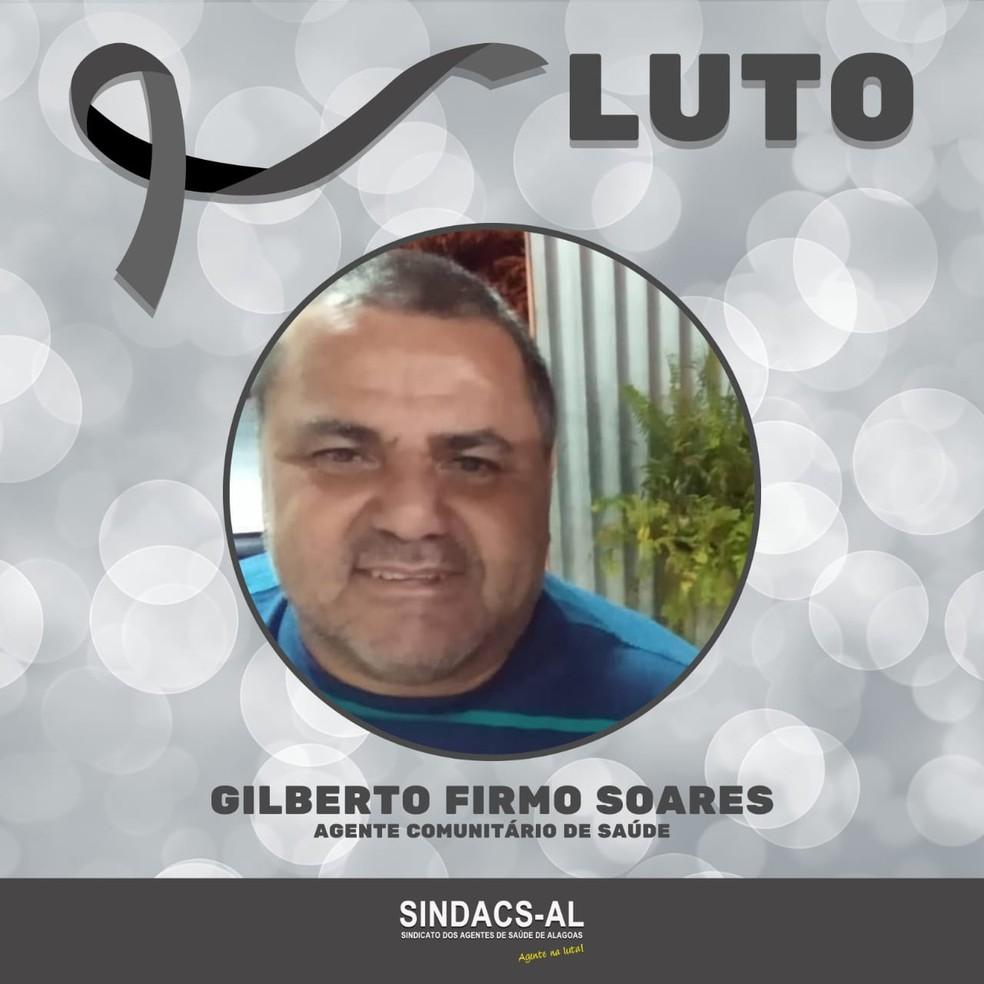 Agente comunitário de saúde de Maceió, Gilberto Firmo, morreu de Covid-19 — Foto: Divulgação/Sindacs-AL