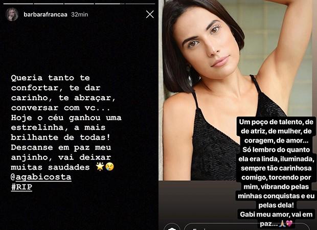Post de Bárbara França (Foto: Reprodução/Instagram)