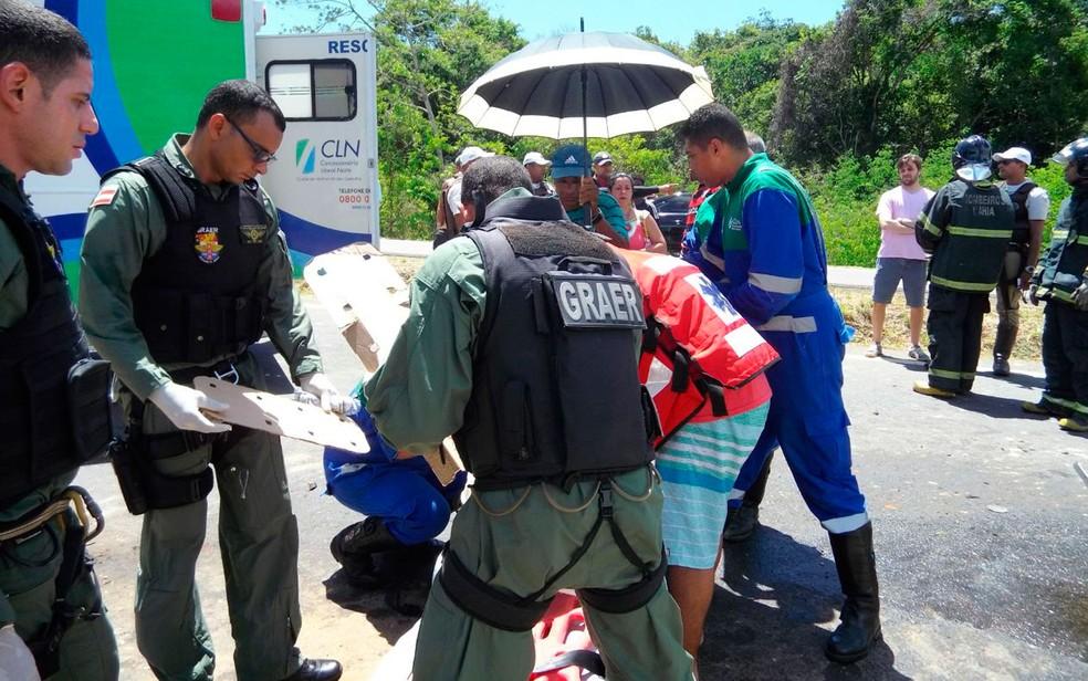 Vítimas foram resgatadas pelo Graer (Foto: Divulgação / SSP)