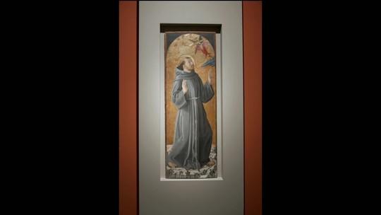 Exposição traz São Francisco de Assis pintado por mestres italianos