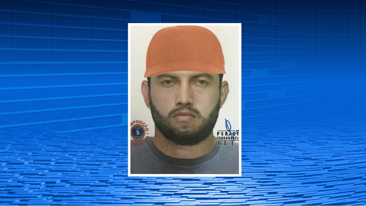 Polícia divulga retrato falado de suspeito de assassinar pai e filho em Toritama