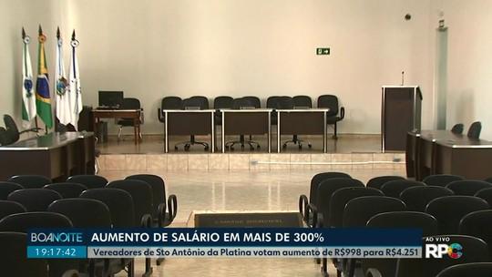 Vereadores de Santo Antônio da Platina aprovam reajuste de salários em segunda votação