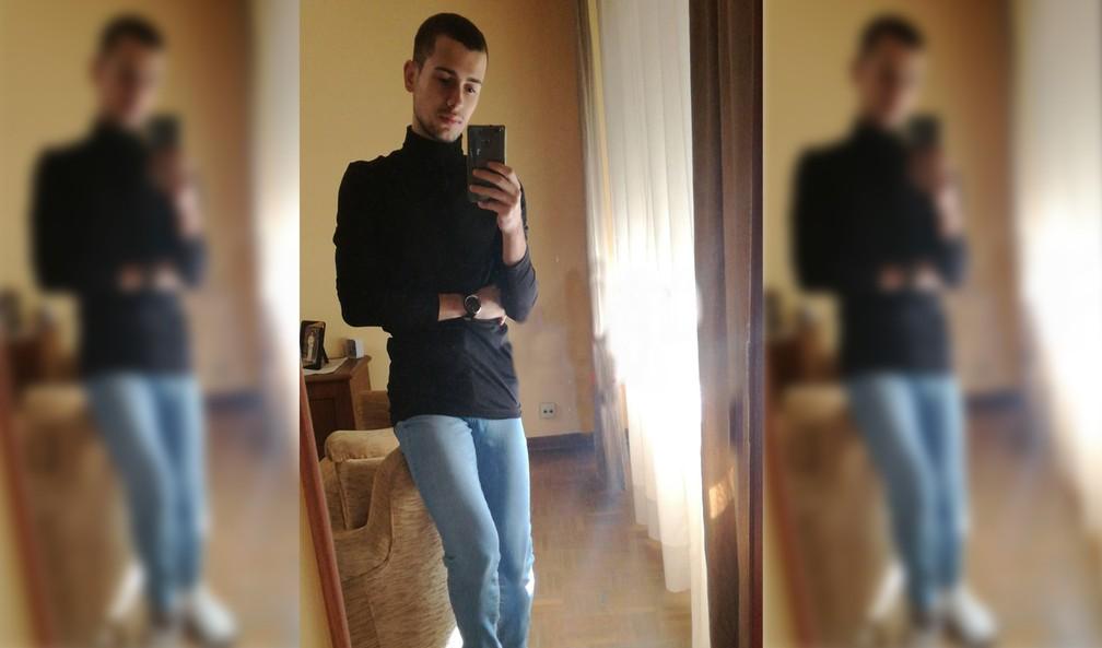 Samuel Luiz Muñiz, auxiliar de enfermagem de 24 anos que nasceu no Brasil, foi espancado até a morte ao sair para fumar em frente a uma balada em La Coruña, no noroeste da Espanha — Foto: Montagem G1/Reprodução Facebook