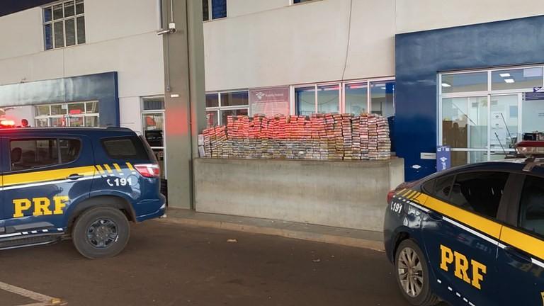 Traficantes escondem 481 quilos de cocaína em tanque de combustível de caminhão com 31 toneladas de soja